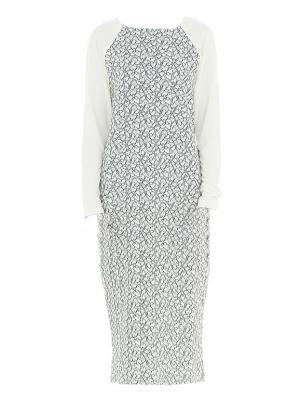 Платье миди с рукавом реглан молочное Bella kareema