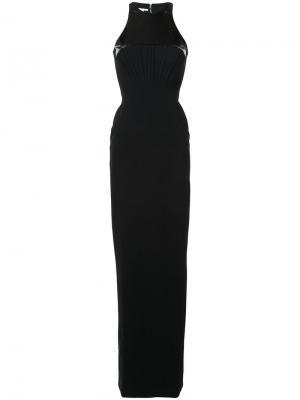 Платье с контрастными панелями Antonio Berardi. Цвет: чёрный