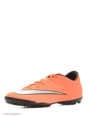 Шиповки MERCURIAL VICTORY V TF Nike. Цвет: оранжевый