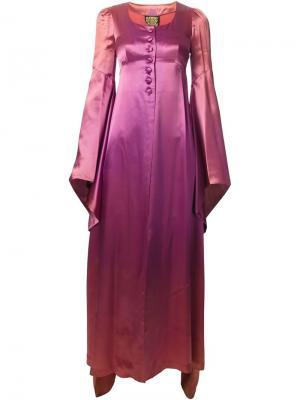 Платье с драпировкой Biba Vintage. Цвет: розовый и фиолетовый