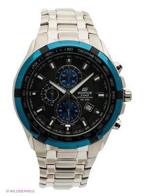 Часы EDIFICE EF-539D-1A2 CASIO. Цвет: серебристый, синий