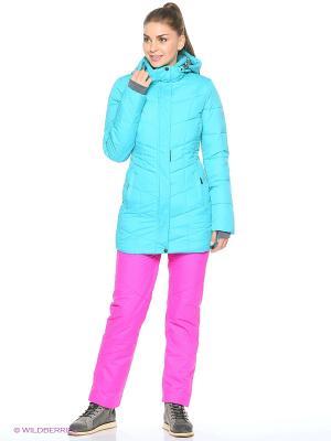 Пальто High Experience. Цвет: голубой