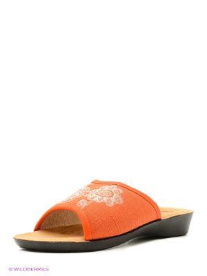 Тапочки BRIS. Цвет: оранжевый