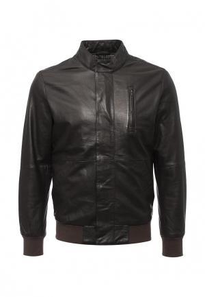 Куртка кожаная Liu Jo Uomo. Цвет: коричневый