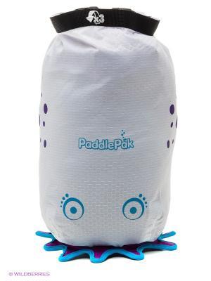 Влагозащищенная сумка белая Медуза TRUNKI. Цвет: светло-серый