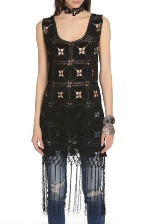 Блузка Glamorous. Цвет: black