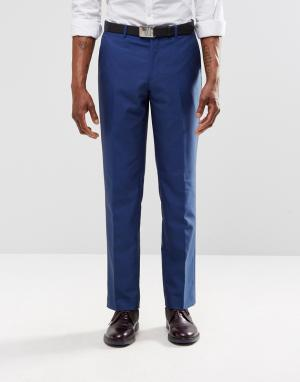 Harry Brown Ярко-синие брюки слим. Цвет: синий