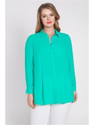 Блузка Bestiadonna. Цвет: бирюзовый