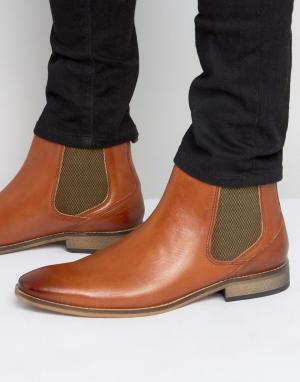 Base London Кожаные ботинки челси Cheshire. Цвет: рыжий