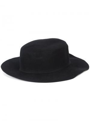 Классическая круглая шляпа Ryan Roche. Цвет: чёрный