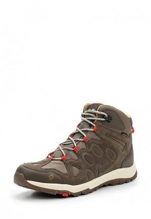 Ботинки трекинговые Jack Wolfskin. Цвет: коричневый