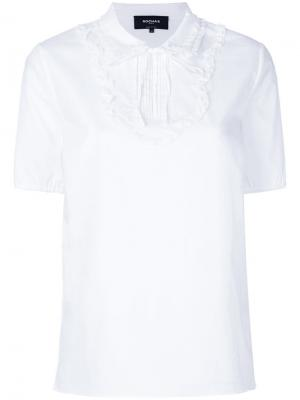 Блузка с оборками спереди Rochas. Цвет: белый
