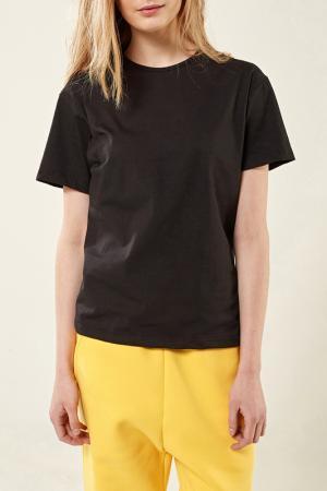 Свободная футболка с короткими рукавами Lava. Цвет: черный