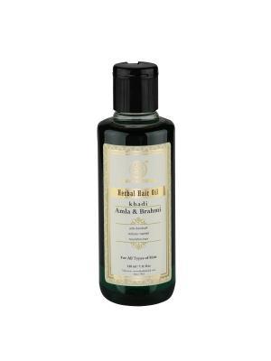 Укрепляющее масло Амла и Брахми для роста волос Khadi Natural. Цвет: черный