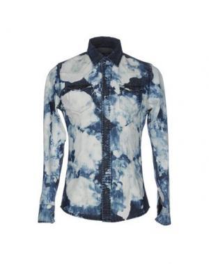 Джинсовая рубашка DANIELE ALESSANDRINI HOMME. Цвет: синий