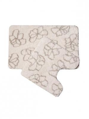 Набор ковриков для ванной комнаты IDDIS. Цвет: серый
