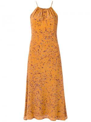 Midi dress Andrea Marques. Цвет: жёлтый и оранжевый
