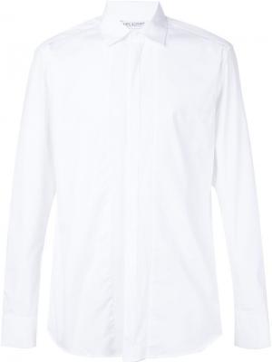 Рубашка с плиссированной планкой Neil Barrett. Цвет: белый