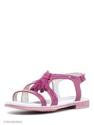 Сандалии Flamingo. Цвет: лиловый