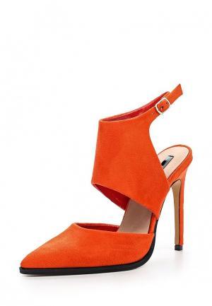 Туфли LOST INK. Цвет: оранжевый