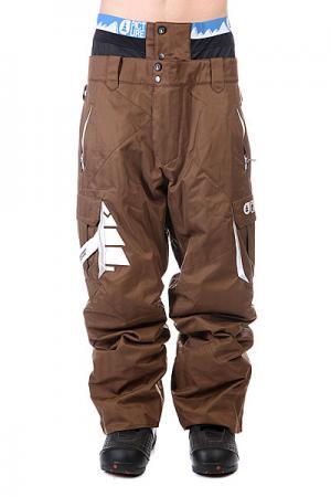 Штаны сноубордические  Park Avenue Brown Picture Organic. Цвет: коричневый