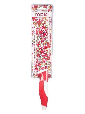 Нож кухонный Весна Miolla. Цвет: красный