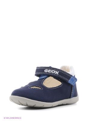 Туфли GEOX. Цвет: темно-синий, синий