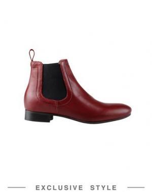 Полусапоги и высокие ботинки GEORGE J. LOVE. Цвет: красно-коричневый