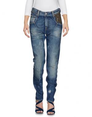Джинсовые брюки HTC. Цвет: синий