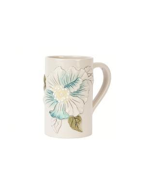 Чашка Вечерний сад Elff Ceramics. Цвет: белый, голубой