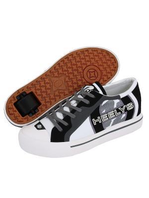 Роликовые кеды Heelys. Цвет: белый, черный