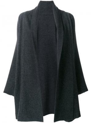 Трикотажное пальто-кардиган Daniela Gregis. Цвет: серый