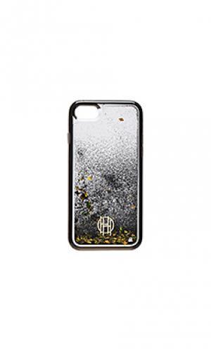 Чехол для iphone 7 с жидкой инкрустацией House of Harlow 1960. Цвет: черный