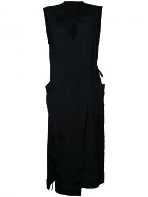 Платье с завязками Facetasm. Цвет: чёрный