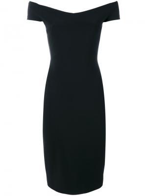 Приталенное платье с открытыми плечами Chiara Boni La Petite Robe. Цвет: чёрный