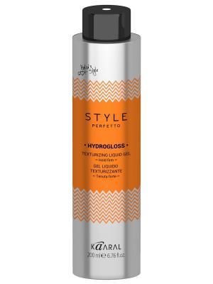 Style Perfetto Жидкий гель для текстурирования волос Hydrogloss 200мл. Kaaral. Цвет: серебристый, оранжевый