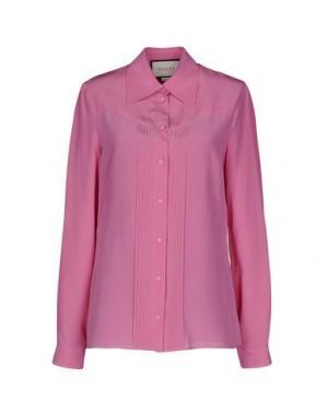 Pубашка GUCCI. Цвет: розовый