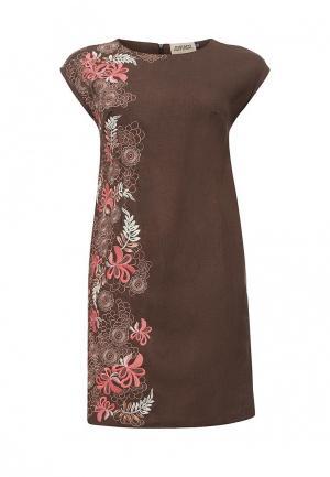 Платье Indiano Natural. Цвет: коричневый