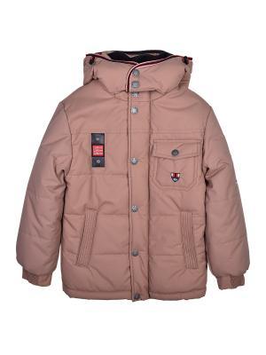 Куртка WOW. Цвет: коричневый