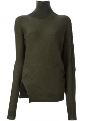 Вязаная блузка Tuxedo A.F.Vandevorst. Цвет: зелёный