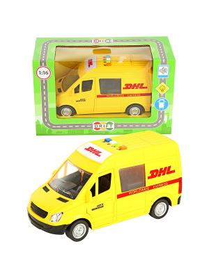 Машина фрикционная,  27,5*12*17 Drift. Цвет: красный, желтый