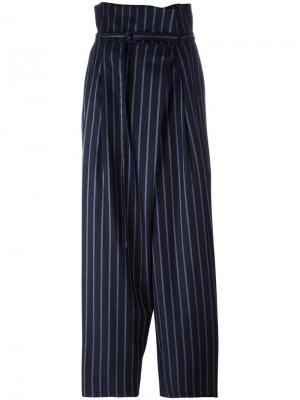 Свободные брюки в полоску с поясом Enföld. Цвет: синий