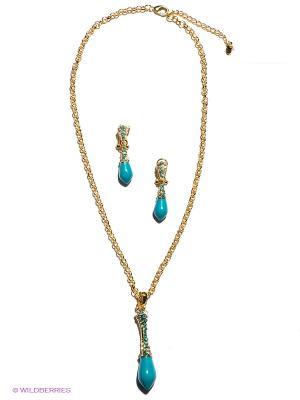 Комплект Bijoux Land. Цвет: золотистый, бирюзовый
