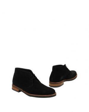 Полусапоги и высокие ботинки THOMPSON. Цвет: черный
