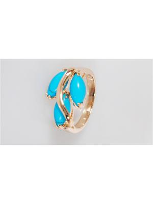 Кольцо Lotus Jewelry. Цвет: золотистый, синий