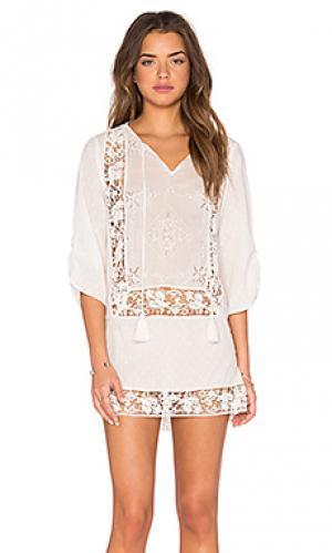 Платье sasha Tolani. Цвет: белый