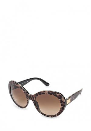 Очки солнцезащитные Dolce&Gabbana. Цвет: коричневый