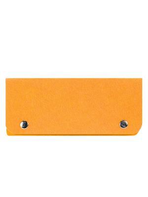 Косметичка фетровая на клепках IQ Format. Цвет: оранжевый