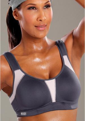 Спортивный бюстгальтер H.I.S.. Цвет: кремовый/серый, серый/оранжевый, темно-серый/розовый