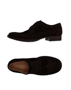 Обувь на шнурках 01000010 BY BOCCACCINI. Цвет: темно-коричневый